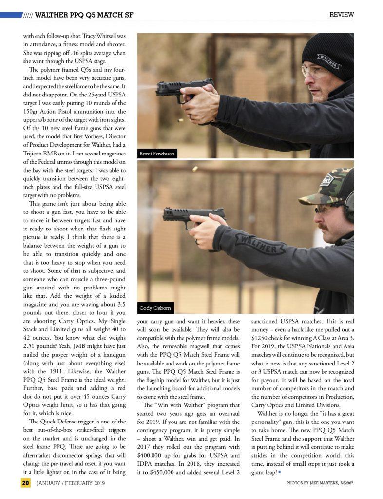 @Truexodus and Cody Osborn shooting the Walther Q5 Match SF.