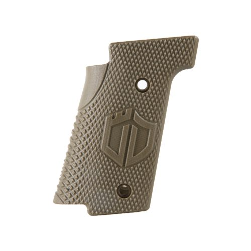 Walther Arms Thin Grips Checkered OD Green