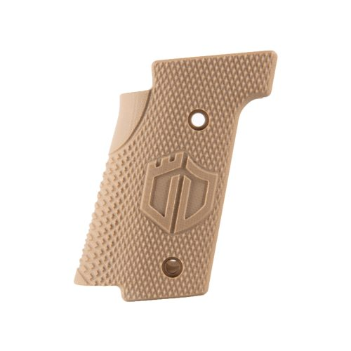 Walther Arms Thin Grips Checkered Coyote Brown